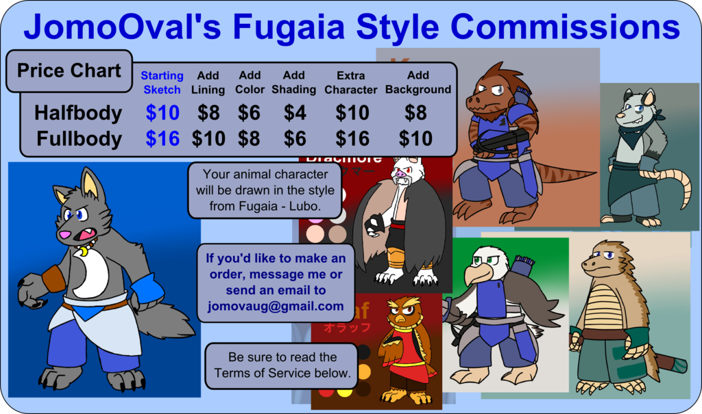 Featured image: Fugaia Style Commission Prices