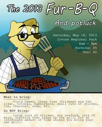 SoCalFurs 2013 FurBQ Poster by Brownwolf