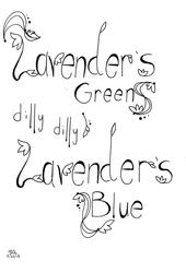 Lavender Typography