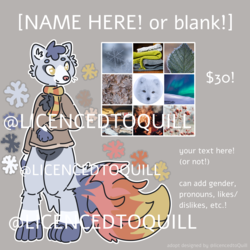 OPEN! arctic fox mood board adopt [adopt]