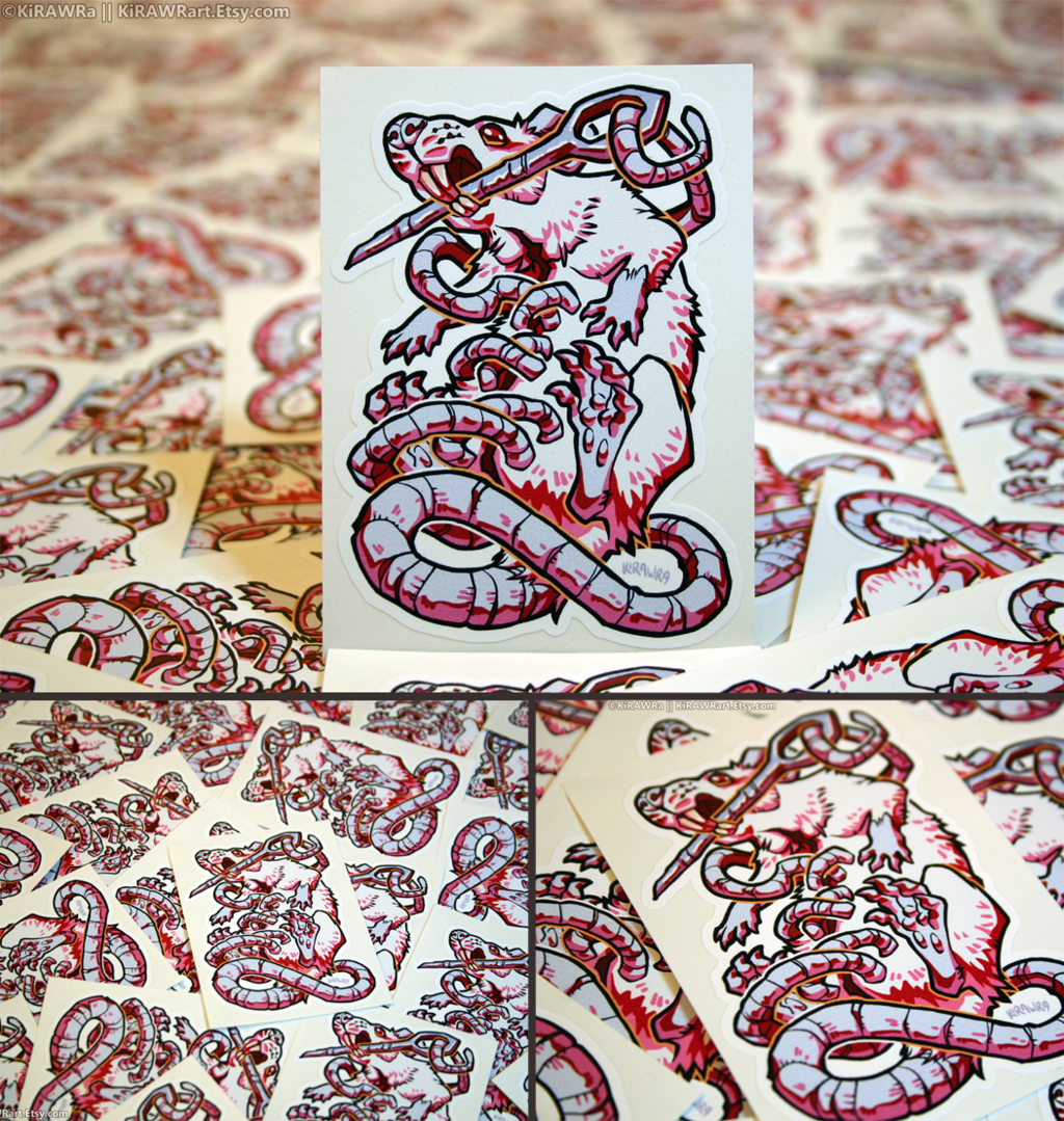 Ratober Stitched Vinyl Stickers