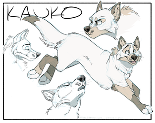 Wolf Sketchpage by MechanicCoyote