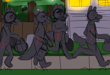 Halloween YCH! 4 Slots :CLOSED: