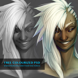 Colourized Layered PSD from Grayscale