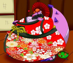 Ruby kimono