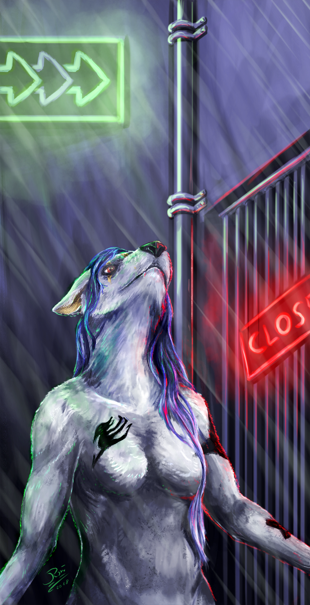 [YCH] In the rain