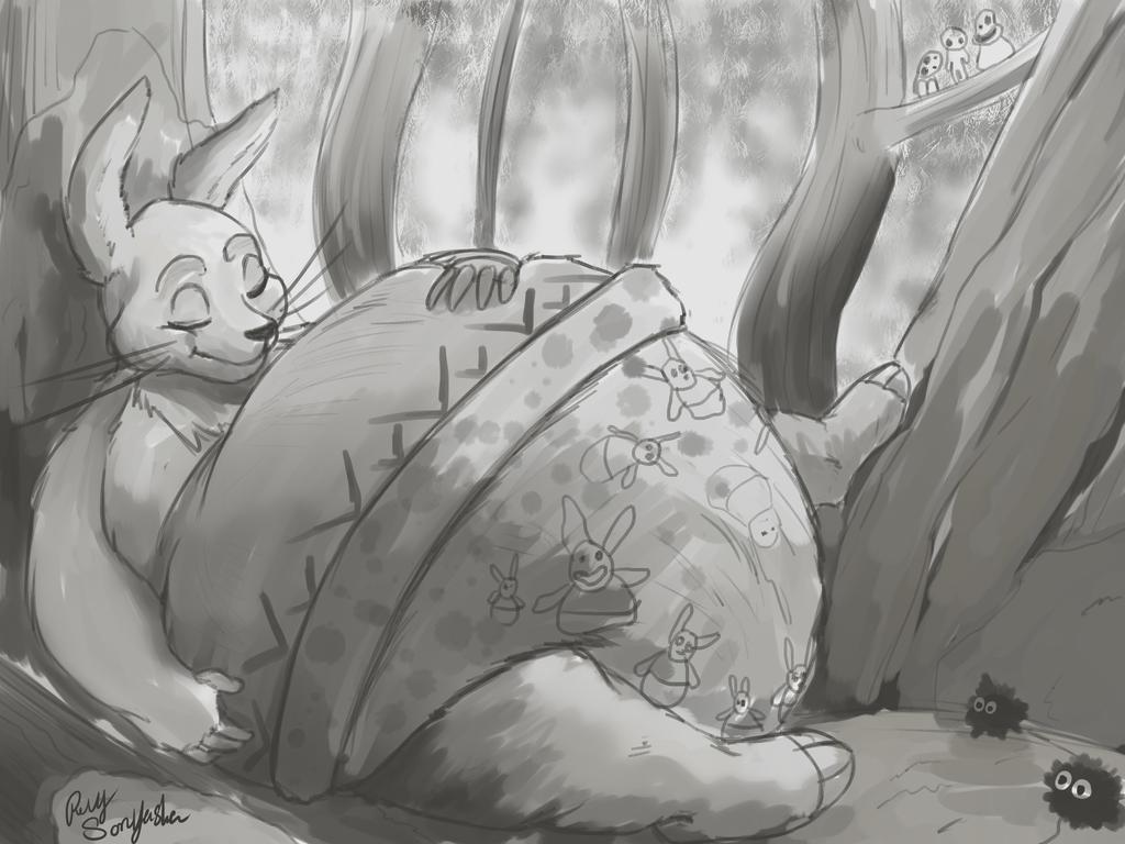 Wombles Kinchaku sleeping