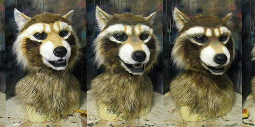 Airbrushing of a space raccoon
