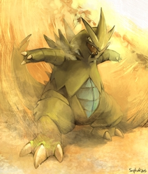 A sandstorm kicked up!