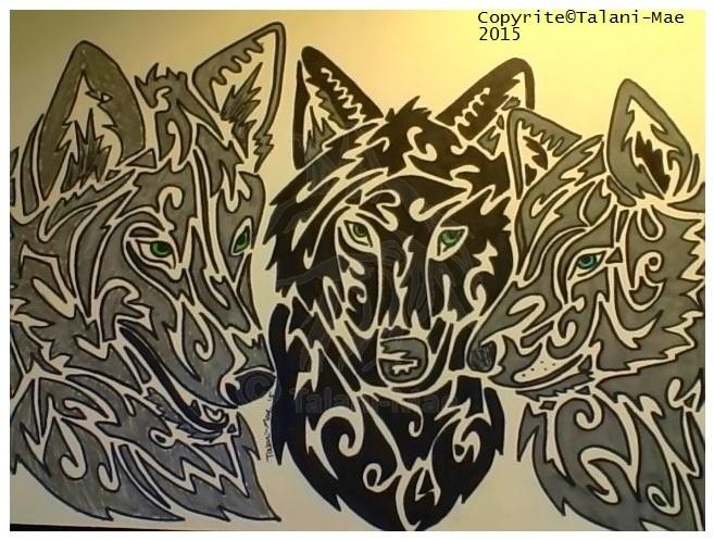 Tribal Wolf Trio