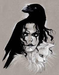 Inktober Day 2 - Eric Draven