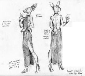 Giselle in a Sheath Dress