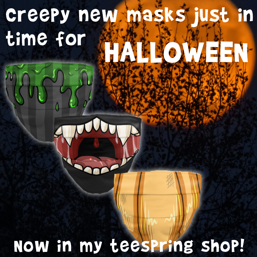 Most recent image: Spooky Face Mask (ad)
