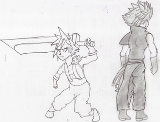 Cloud Strife - then and now