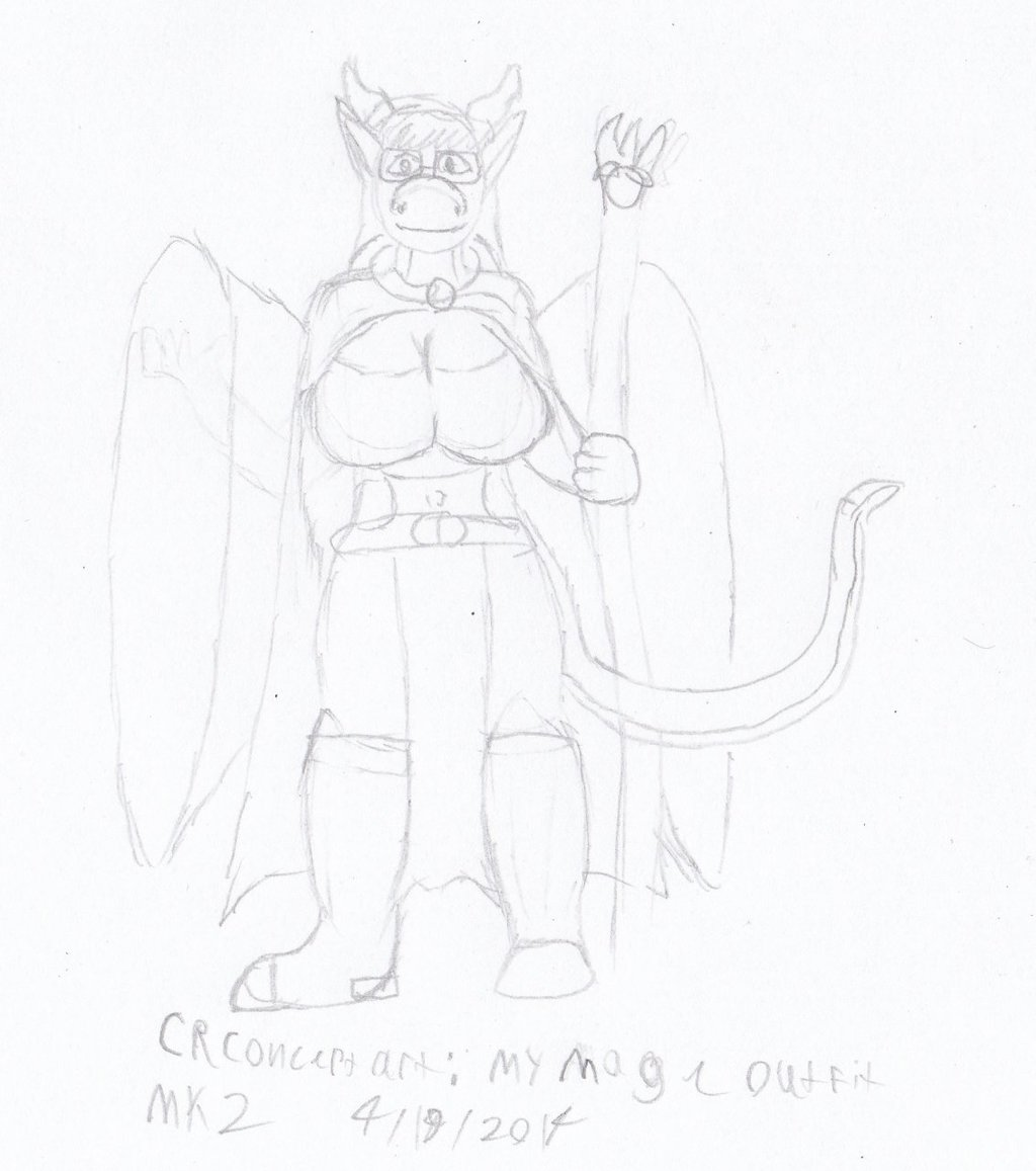 CR Concept art- My Mages outfit MK2