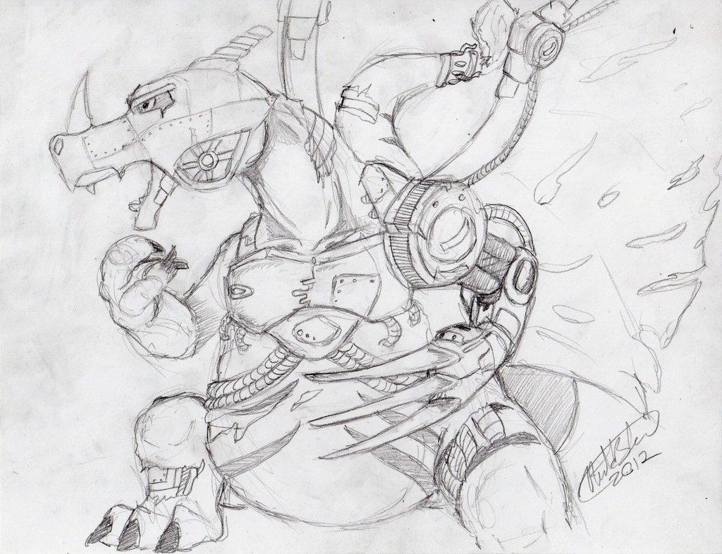 Metal Lizardon Sketch