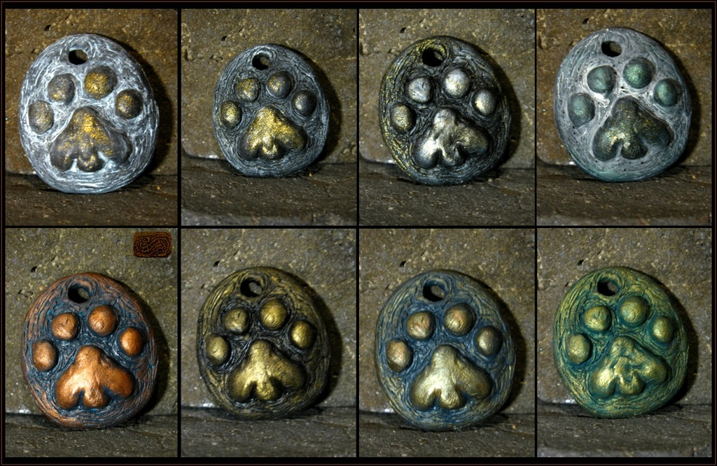 resin cat paw pendants