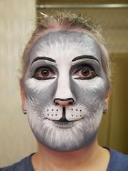 Gray cat makeup practice #2