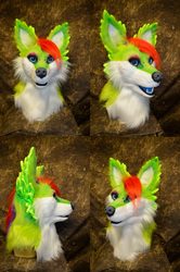 Jaze the Rooster-Fox Head