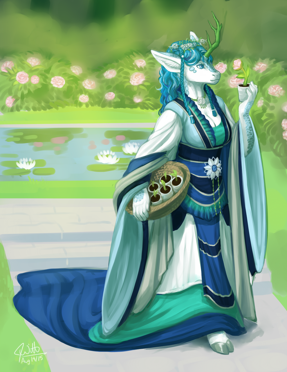 Lady Masami Tends to Hir Gardens