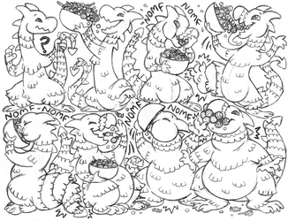 jellydog sketchpage commission (piñata/inflation)