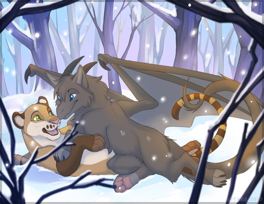 Most recent image: Full Colour Digital Commission - Snow Pounces