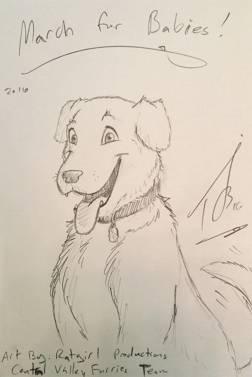Charity Sketch for Donor Aaron