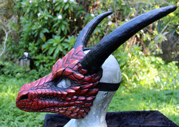 Red dragon mask for sale