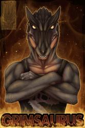 Badge Comish - Grimsaurus