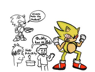 Mugi Draws Fleetway Super Sonic