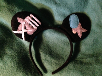Kingdom Hearts Roxas Custom Mickey Mouse Ears made for myself