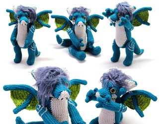 Blue Dragon Doll - For Sale