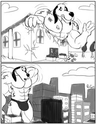Dollar Muscle Max Comic Page 3/5 by CaseyLJones