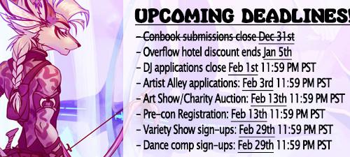 VF2016 - Upcoming Deadlines