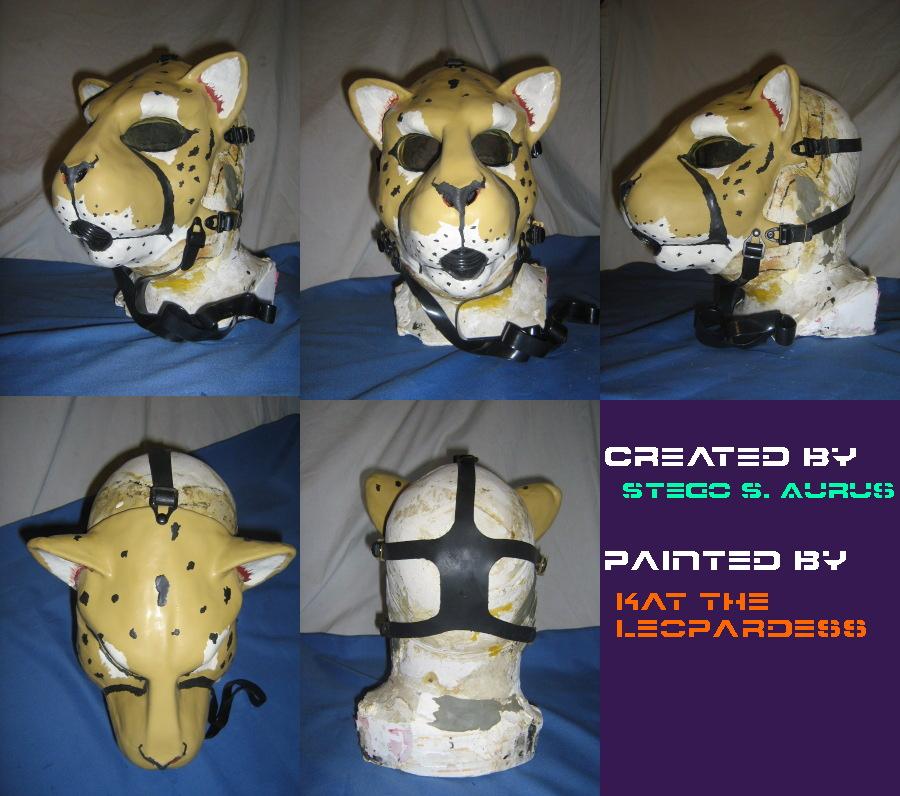 Painted Gas Mask: Cheetah