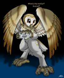 Awareqx Barn Owl gift art