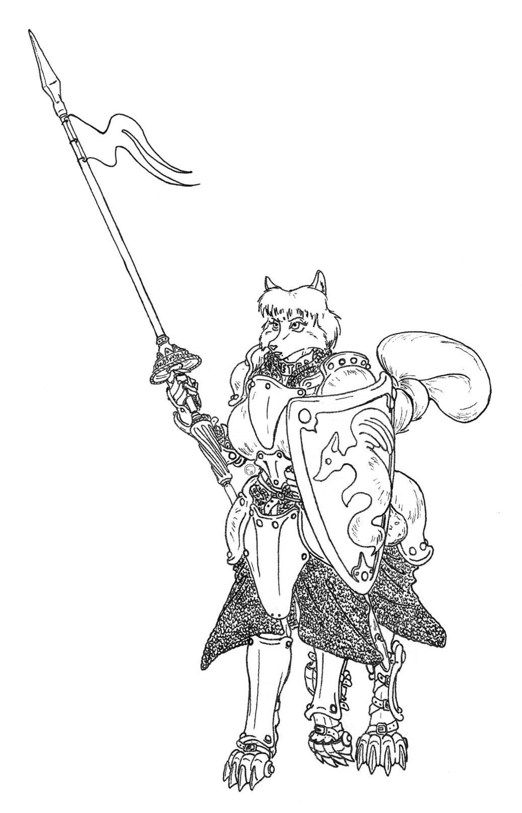 "Most recent image: ""Un-named"" Vixentaur knight"