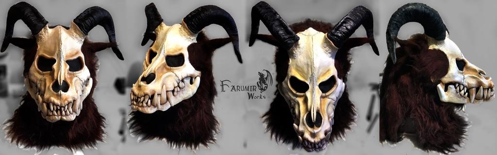 Most recent image: Ram Wendigo mask commission