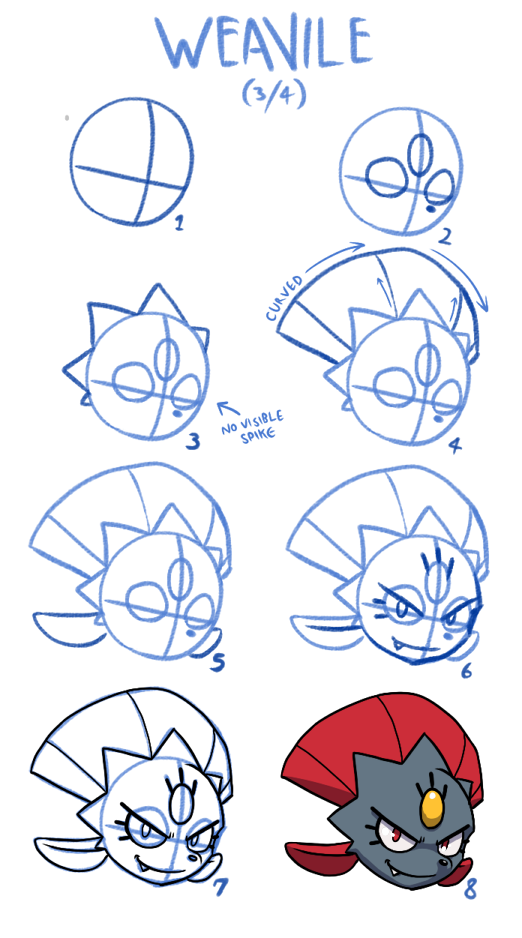 Weavile How-to-Draw