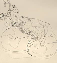 VORE--Of Goofy Snakes and Wary Goats--sketch