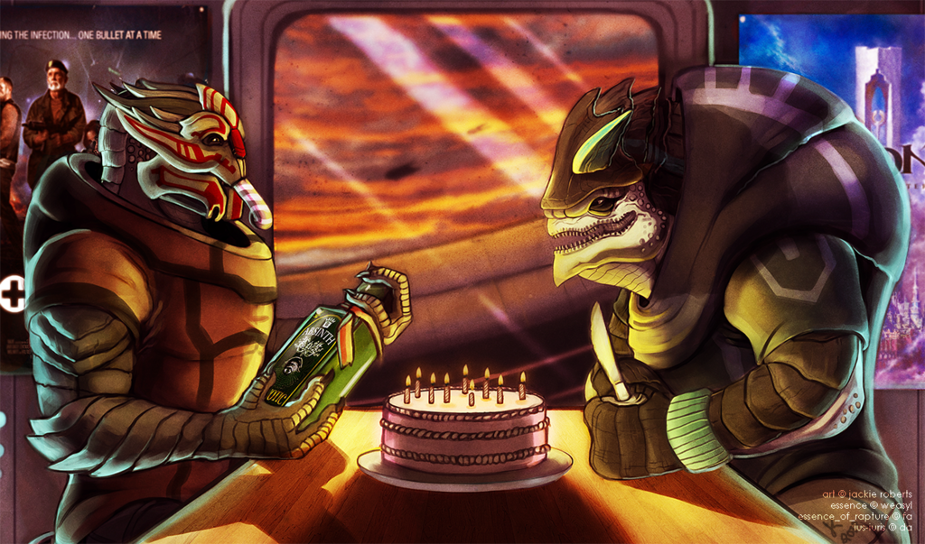 Blackscale's birthday! - Commish