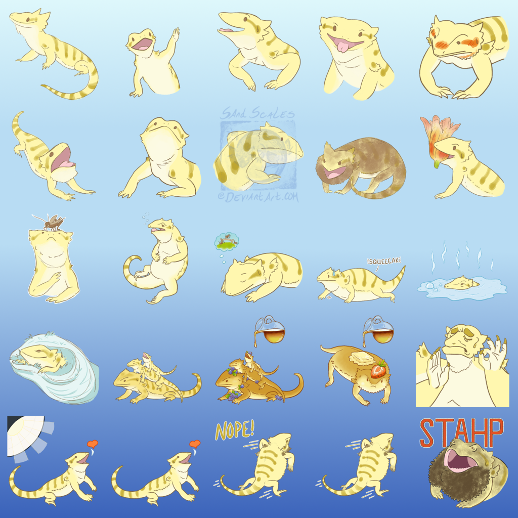 Telegram Stickers- Happy Beardies