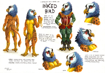 Inked Bird ref sheet