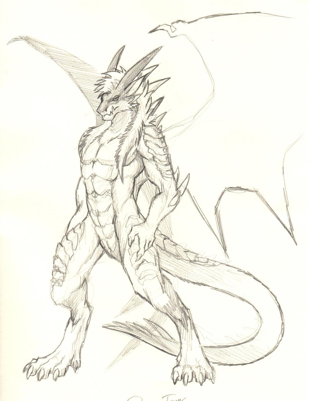[ByoWT] Sketchbook Page 5 - Punk Rock Demon