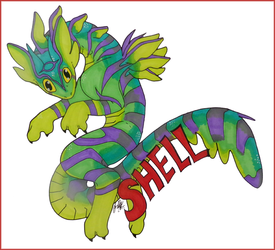 "+ConbadgeExchange- June- Larkspurdragon- ""Shell""+"
