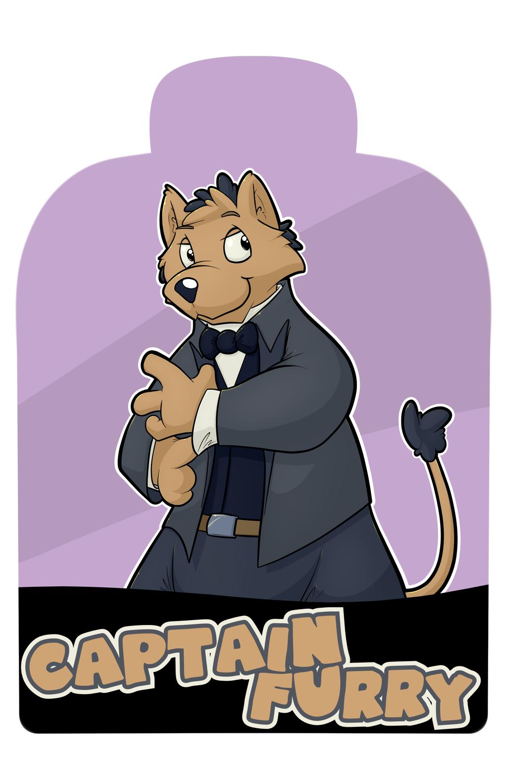 Midwest Furfest 2017 Badges - Captain Furry