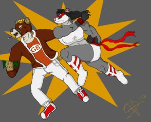Battle Badger In Action by Darc nefarion