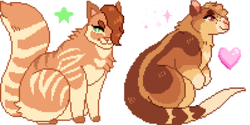 Feral pixel icons.