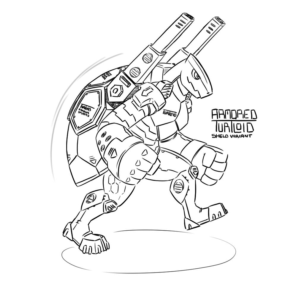 Armored Turtloid Shield Variant (Echo 6)