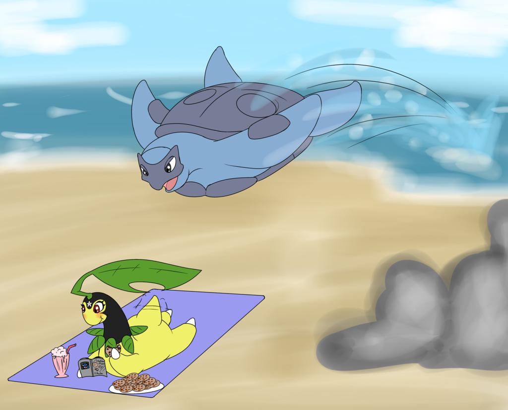 Pokemon at the beach